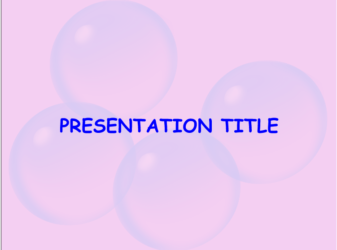 Presentation template Bubble Gum