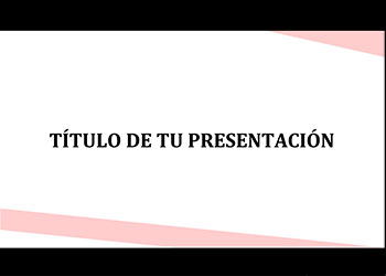 Pink presentation template