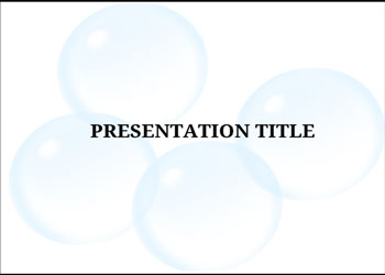 Presentation template Blue Bubbles