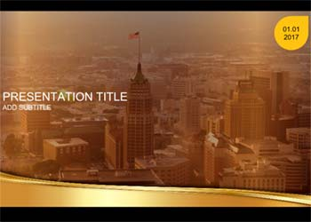 Golden presentation template