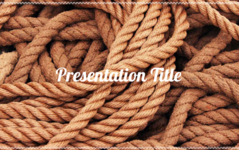Rope presentation template