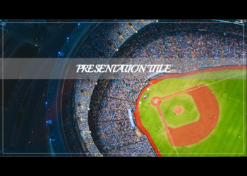 Free presentation template Baseball