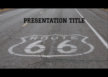 Presentation template Route 66