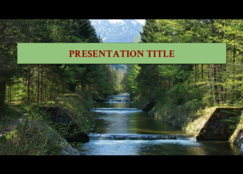 Presentation template Waterfall