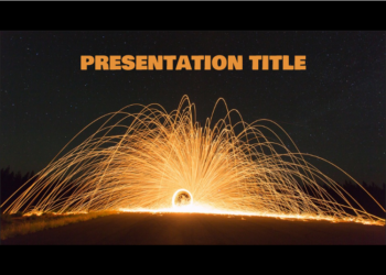 Free presentation template Fire Lights