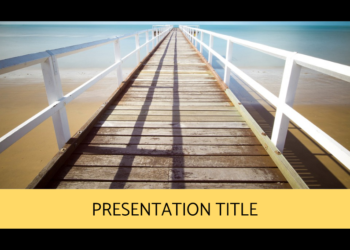 Free presentation template Beach