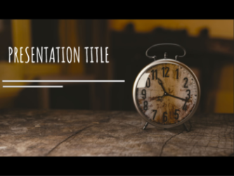 Presentation template Clock
