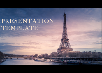 Free presentation template Paris